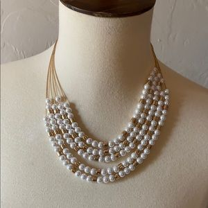 Target pearl and gold stacked necklace
